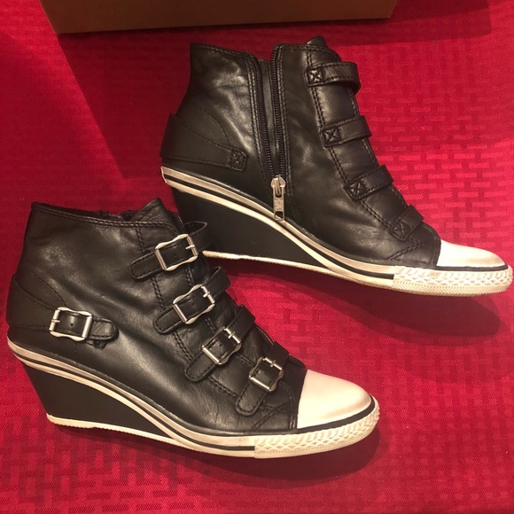0e068962174a Ash Shoes - ASH Sneaker Leather Black Wedge Heel Brand New